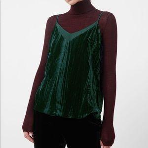 MANGO Emerald Velvet Sleeveless Top